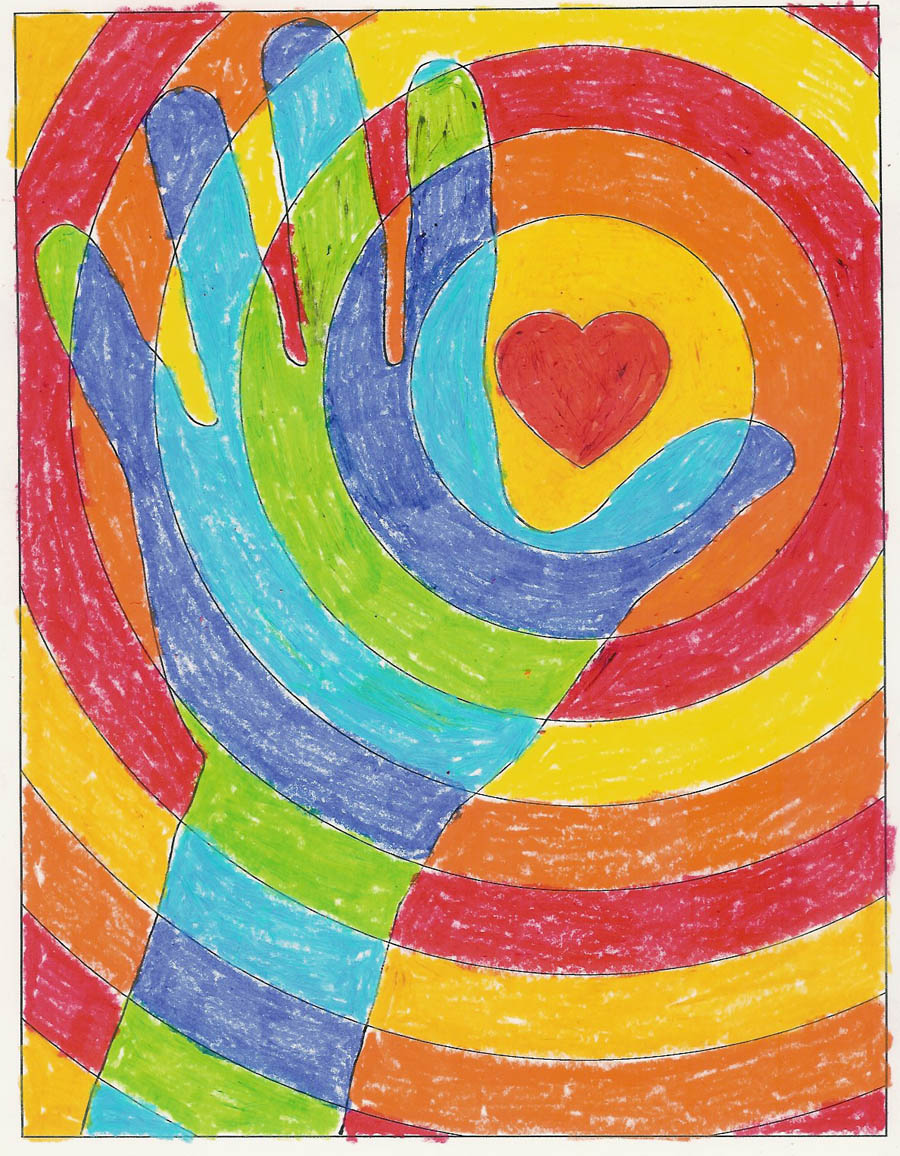 cool hands warm heart art projects for kids