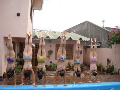 girls doing handstands