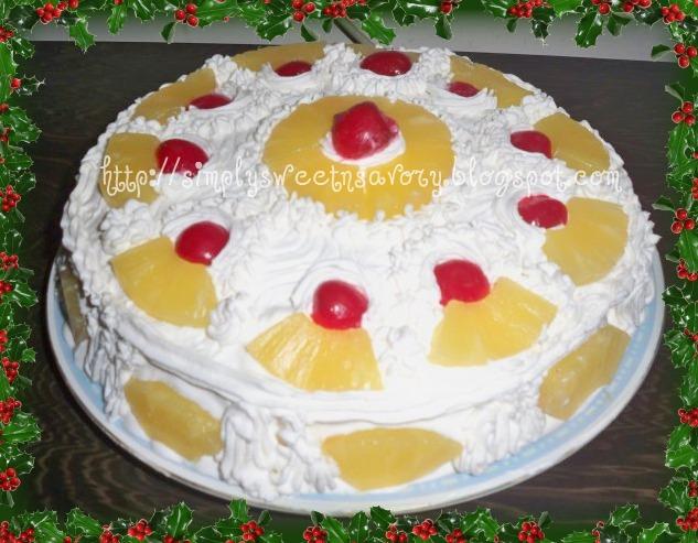 Simply Sweet N Savory Pineapple Cream Cake