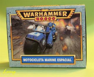 Caja de las Motocicleta de los marines espaciales