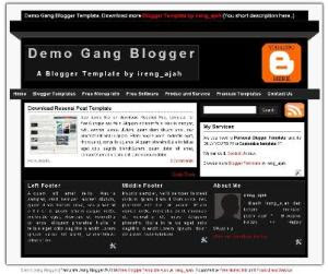 free blogger template with 2 colum black and white color