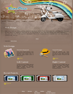 free blogger template convert from wordpress theme with retro and classic style