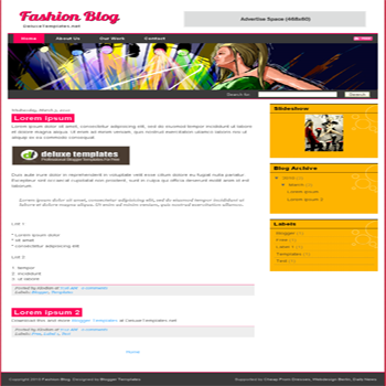 free blogger template Fashion Blog for blogspot template