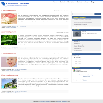 free blogger template Clearness