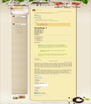 free blogger template convert from wordpress theme Ez Cafe