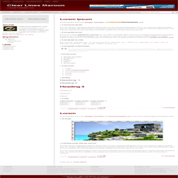 free blogger template Clear Lines Maroon for blogspot template