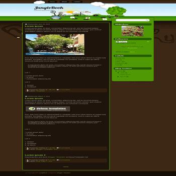 free blogger template JungleBook blogspot template