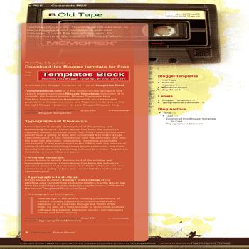 free blogger template convert wordpress theme to blogger Old Tape blogger template