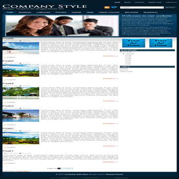 free blogger template convert wordpress theme to blogger template Company Style Blue blogger template