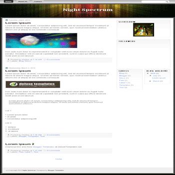free blogger template Night Spectrum blogspot template
