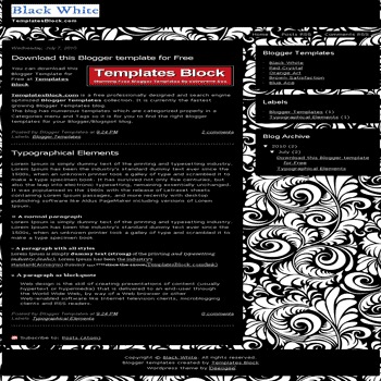 free blogger template convert wordpress theme to blogger Black White blogger template