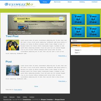 free blogger template convert css theme to blogger Bussiness MO blogger template