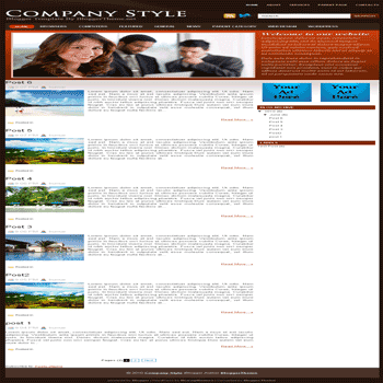 free blogger template convert wordpress theme to blogger template Company Style blogger template