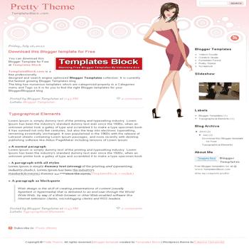 free blogger template convert website template to blogger Pretty Theme blogger template