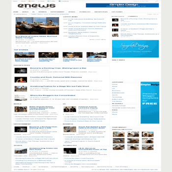 free blogger template magazine style Simplex Enews blogger template