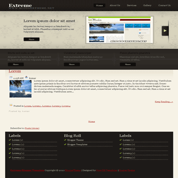 free blogger template convert css template to blogger template Extreme blogger template