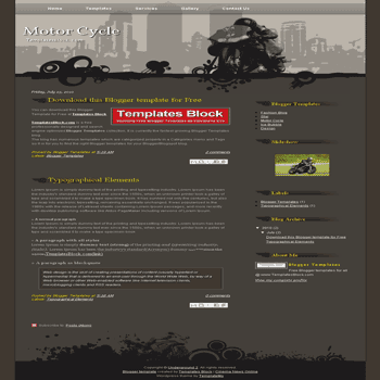 free blogger template convert css template to blogger Motor Cycle blogger template