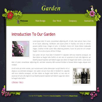 free blogger template convert CSS template to blogger Photo Garden template