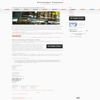 free blogger template Postage blogger template