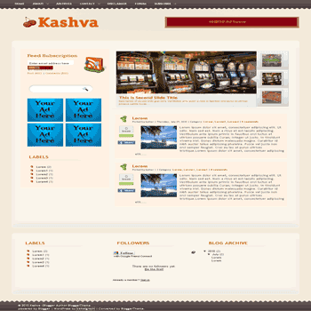 free blogger template convert wordpress theme to blogger template Kashva blogger template