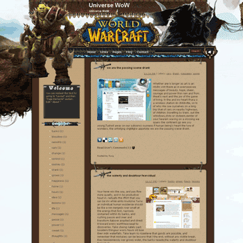 Universe WoW free blogger template converted WordPress to Blogger for games blogger template