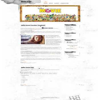 Movie 4 You free blogger template with 2 column template for movie blog