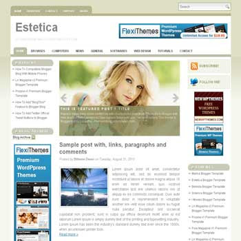 free blogger template Estetica magazine style blogger template with 3 column template,pagination for blogger and image slideshow blogger template blogger