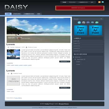Daisy blogger template convert wordpress theme to blogger template with image slideshow blogger template