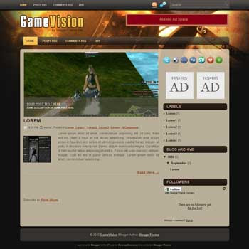 game vision blogger template convert wordpress theme to blogger template with image slideshow template