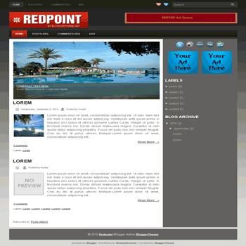 Redpoint blogger template convert wordpress theme to blogger template with image slideshow blogger template