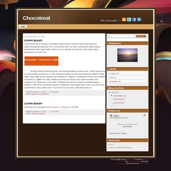 free Chocotreat blogger template