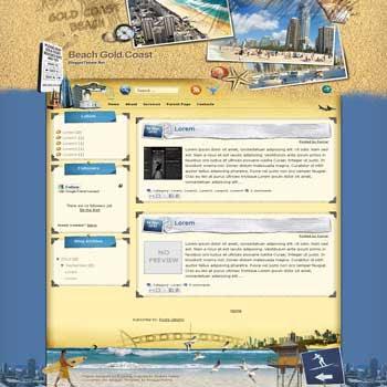 Beach Gold Coast blogger template convert wordpress theme to blogger template