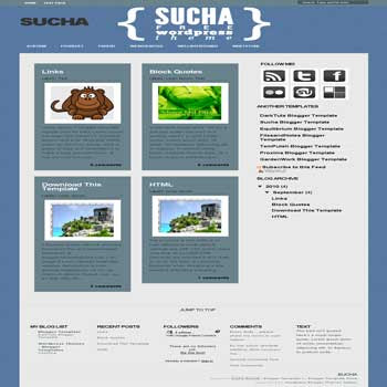 free Sucha magazine style blogger template convert from wordpress theme to blogger template with 5 column footer blogger template
