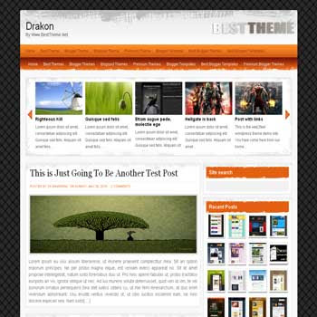 Drakon blogger template converted from wordpress theme to blogger template with image slideshow blogger template