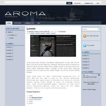 Aroma blogger template convert wordpress theme to blogger template with 3 column blogger template