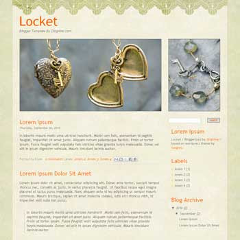Locket blogger template adapted from wordpress theme to blogger template with nice background template