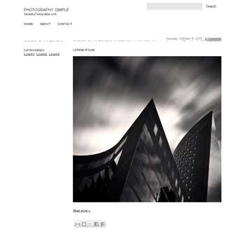 free Photography Simple blogger template for Photography  blogger template