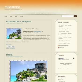 free Milestone blogger template converted from css template to blogger template