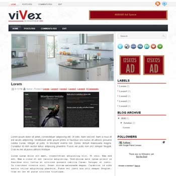 vivek blogger template convert wordpress theme to blogger template with automatic slideshow template blog