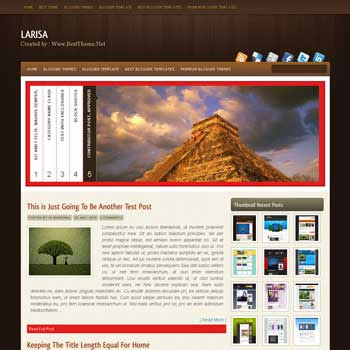Larisa blogger template converted from wordpress theme to blogger template with haccordion blogger template and 4 column footer template