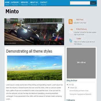 Mint Magazine blogger template magazine style blogger template