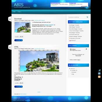Abis blogger template convert from wordpress theme to blogger template with clean blog template