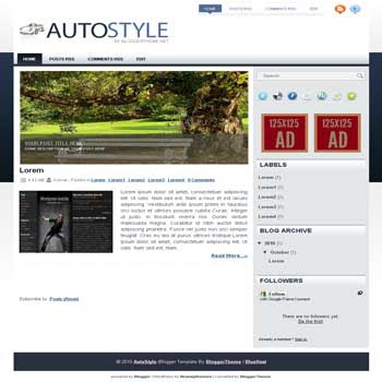 Auto Style blogger template convert wordpress theme to blogger template with image slideshow blogger template for auto reviews blog template