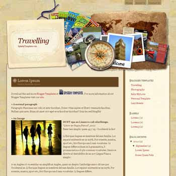 Travelling blogger template for travelling blogger template