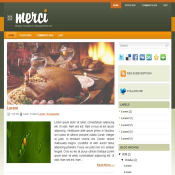 Merci blogger template convert wordpress theme to blogger template with image slideshow blogger template