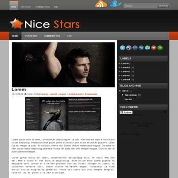 Nice Stars blogger template convert wordpress theme to blogger template image slideshow blogger template for celebrities template blog reviews