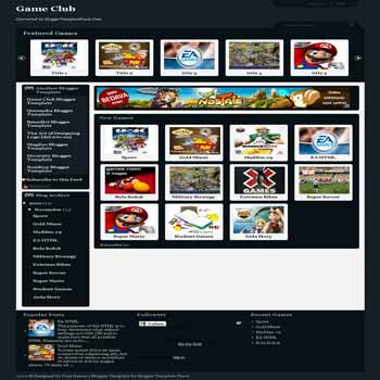 Game Club blogger template converted wordpress theme to blogger template. image slider template blogspot. image slider blogger template. game blogger template. game template blogspot