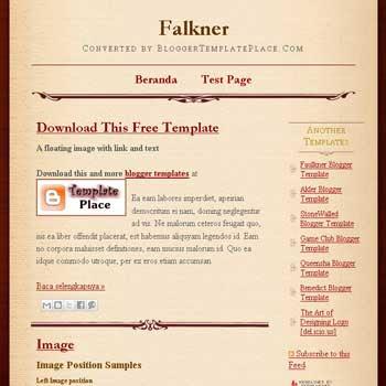 Faulkner blogger template converted wordpress theme to blogger template. blogger template from wordpress theme. blogspot template from wordpress theme