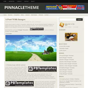 Pinnacle blogger template. convert wordpress theme to blogger template