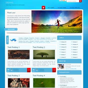 Teraphy template blogger converted from wordpress theme to blogger template. featured content blogger template. magazine style blogger template. magazine style blogspot template